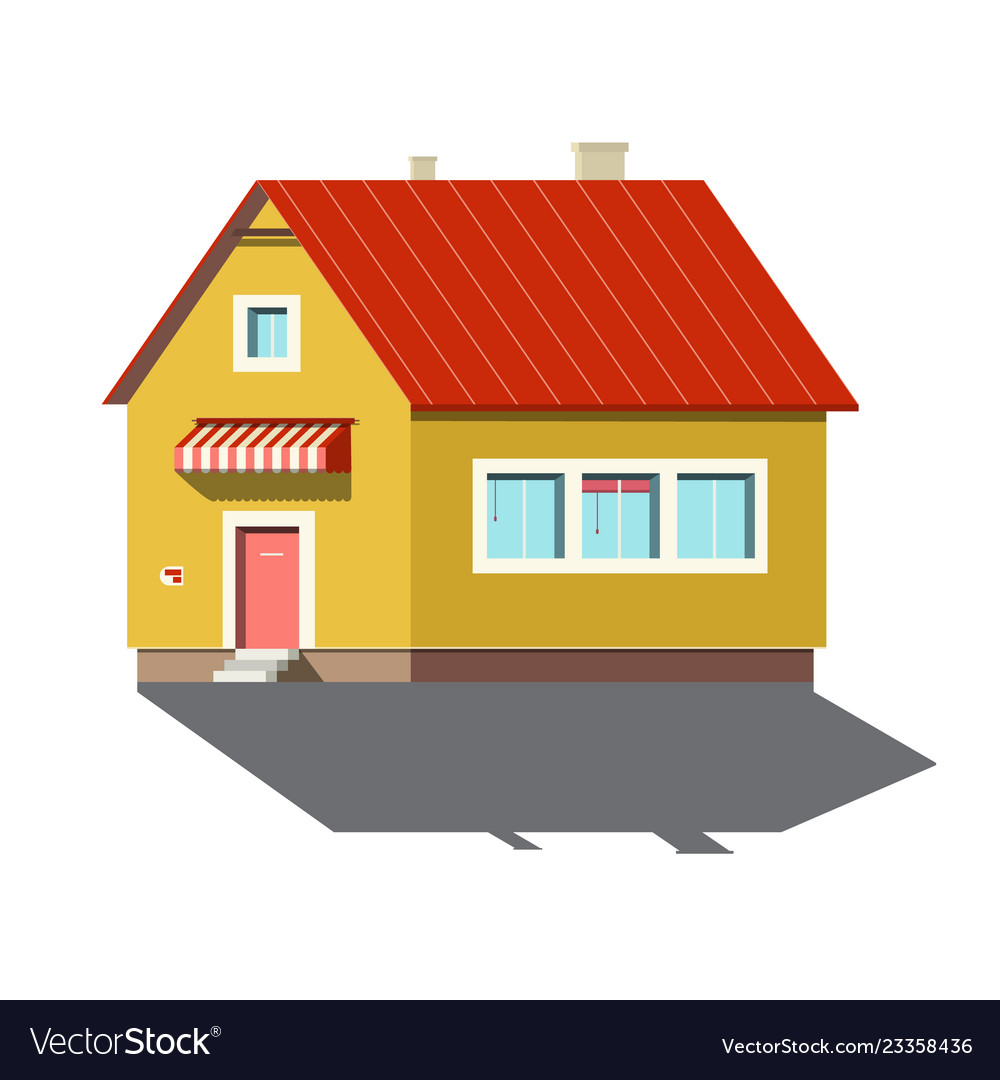 Building symbol family house icon isolated on