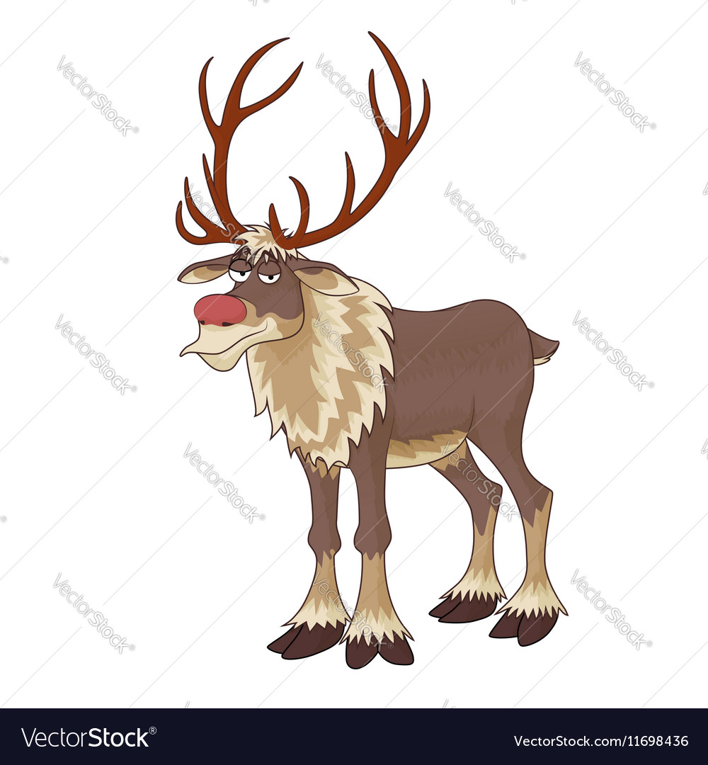 Christmas red nose reindeer Rudolph with