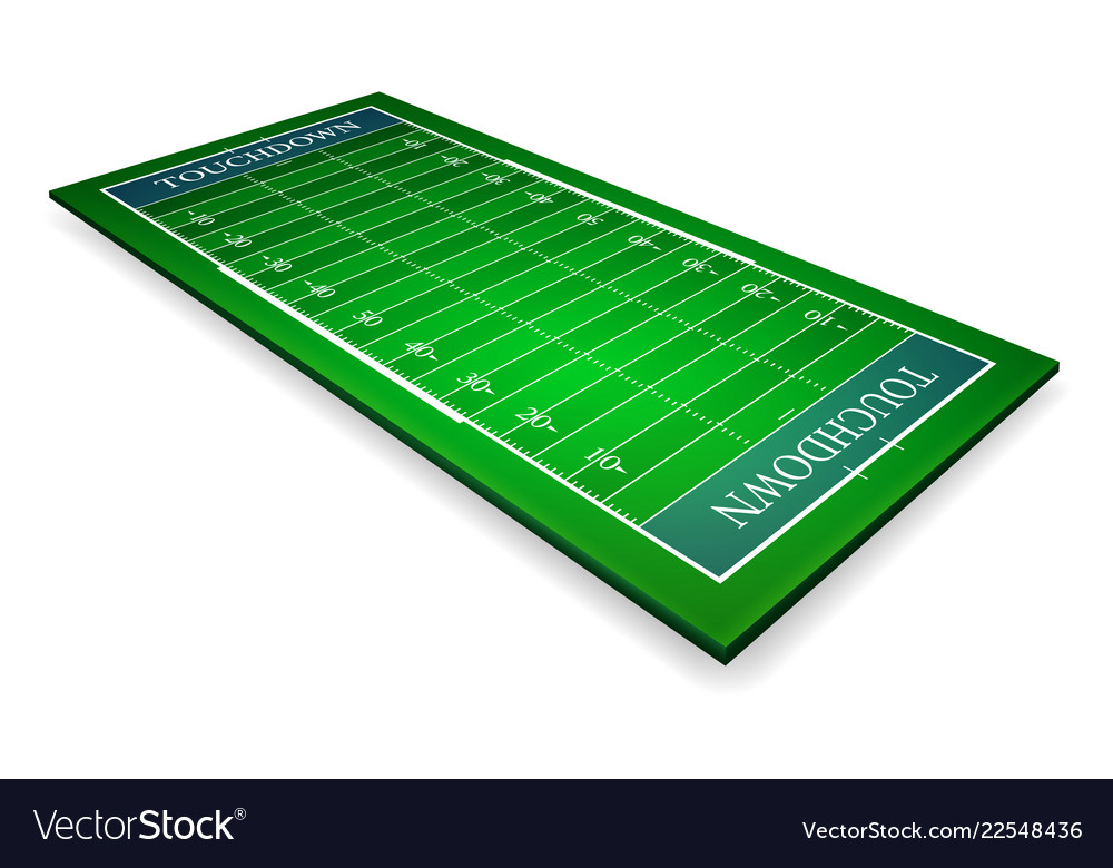 Detailed of an american football fields with