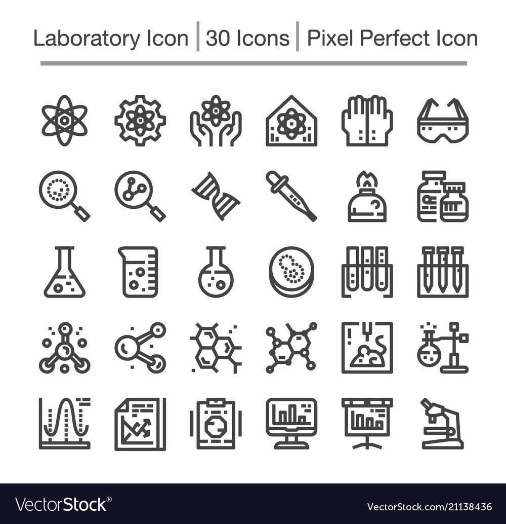 Laboratory line icon vector