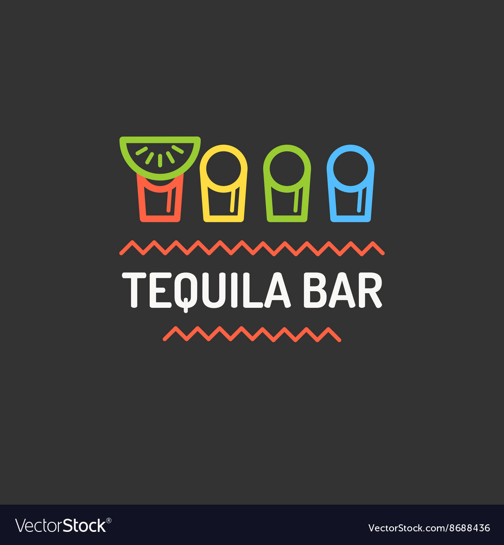 Mexican bar logo vector image