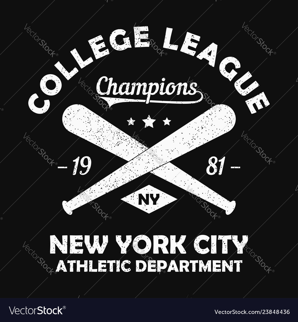 New york grunge t-shirt print with baseball bat