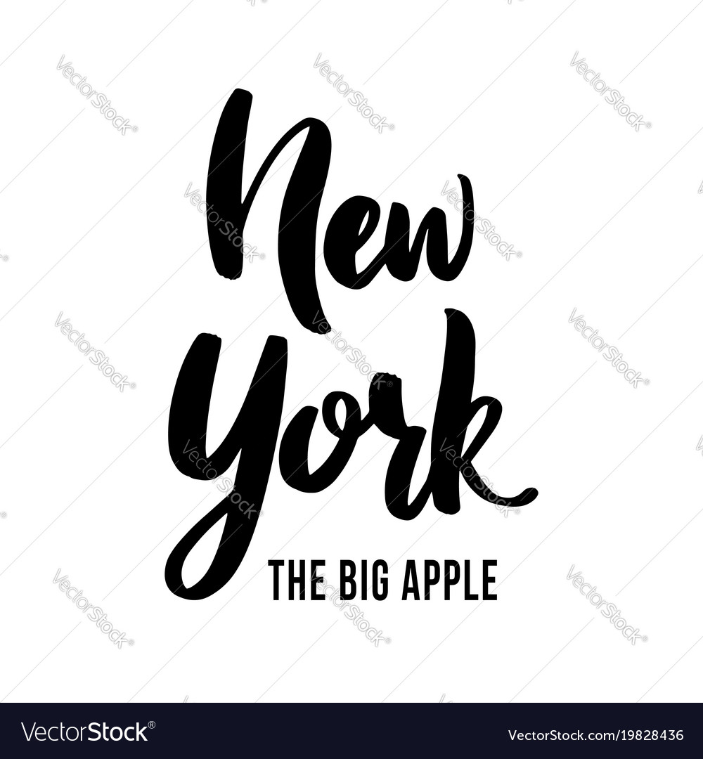 New york the big apple - hand drawn lettering