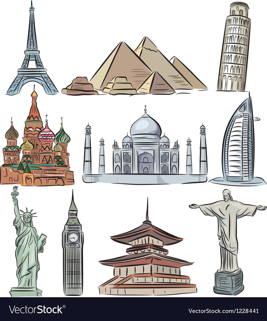 Architectural wonders of the world collection