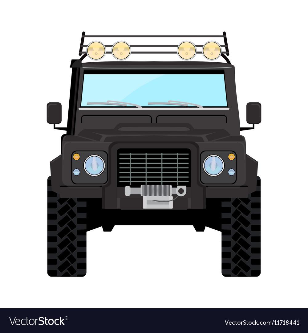 Black offroad car truck 4x4