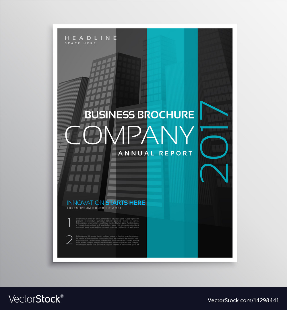Company business magazine cover template of vector image accmission Image collections