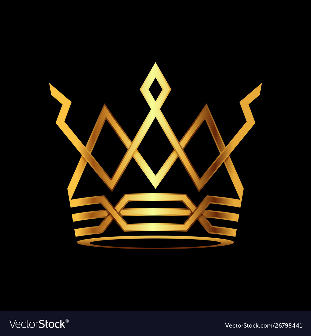 Crown modern gold logo