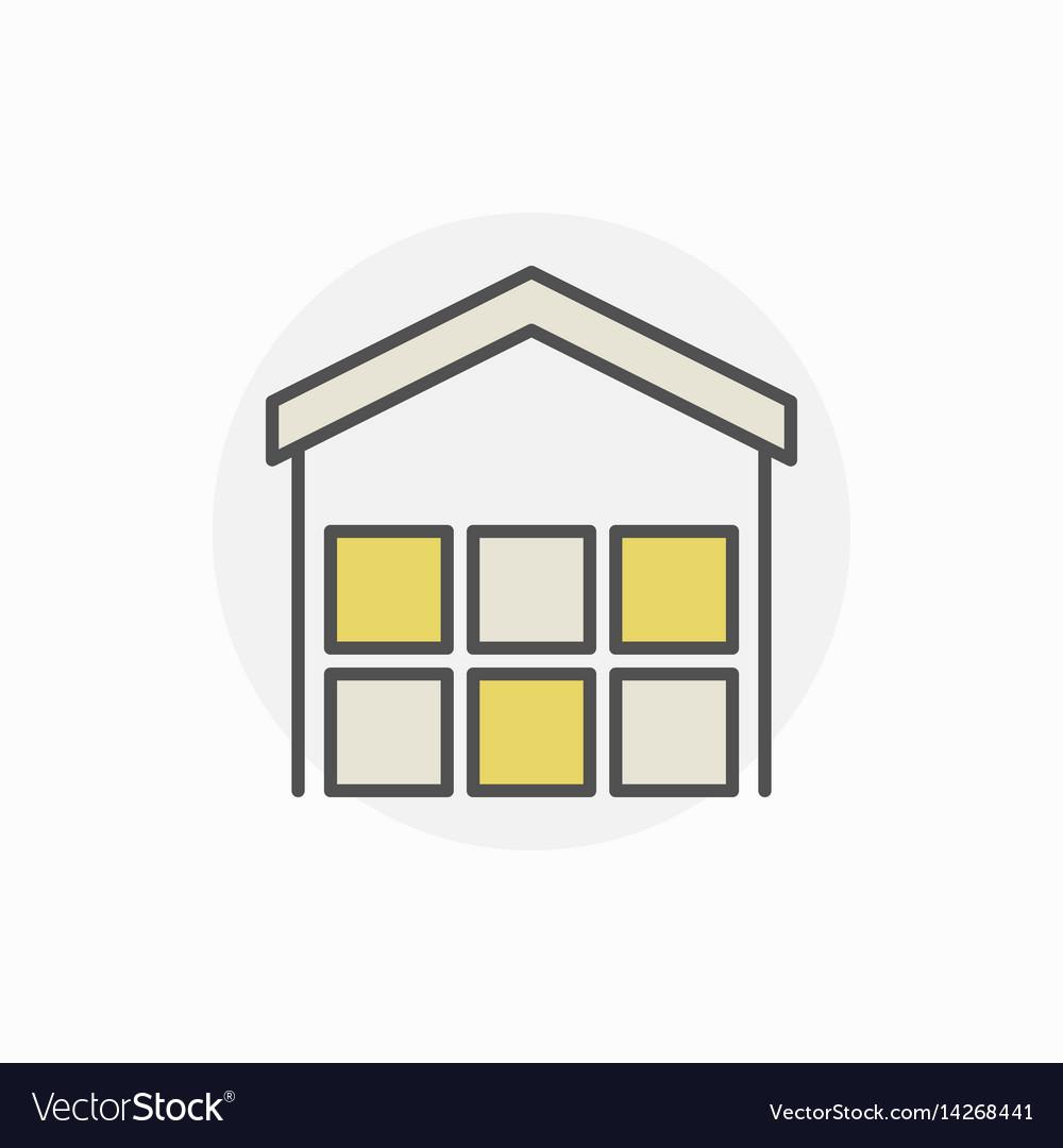 Freight warehouse icon