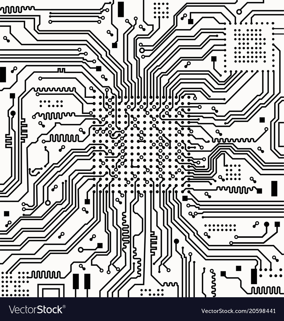 high tech electronic circuit board royalty free vector imagehigh tech electronic circuit board vector image