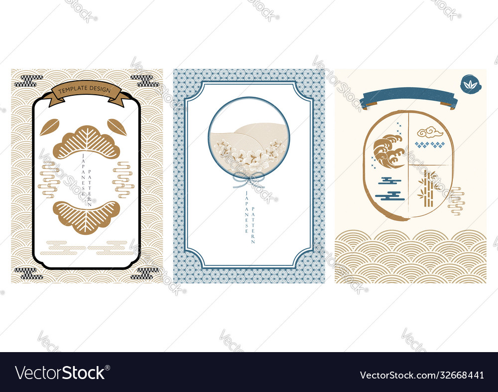 Japanese pattern and icon oriental wedding
