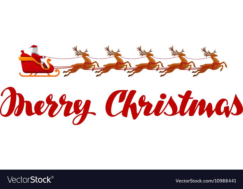 Merry Christmas Xmas greeting card