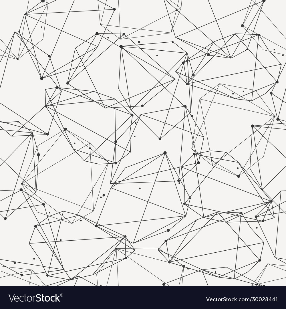Modern seamless pattern with lines and circles