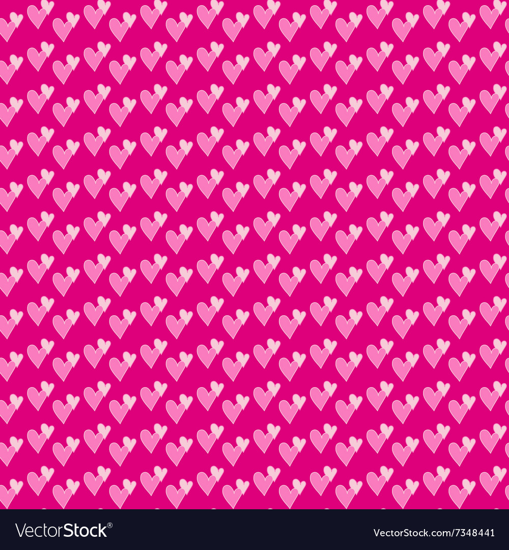Pair of hearts seamless background