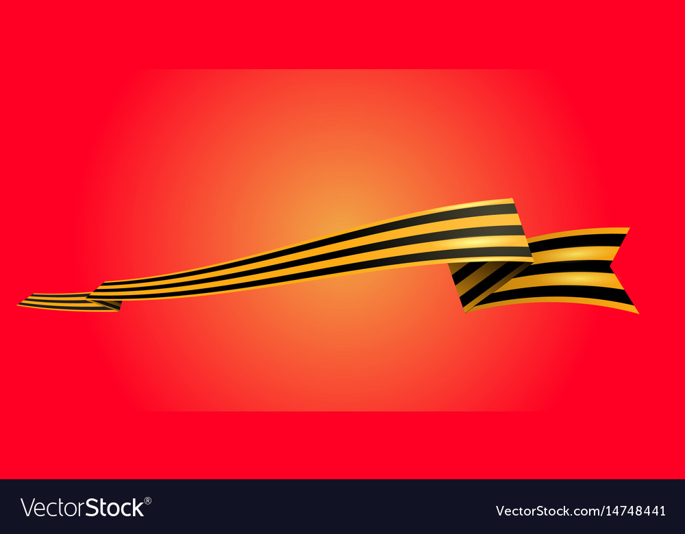 St george ribbon on red background