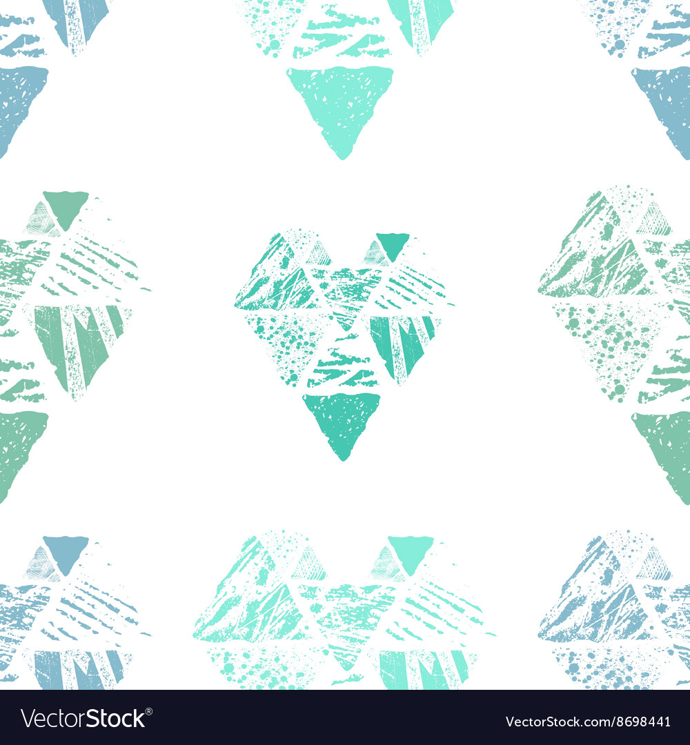 Triangle seamless pattern vector image