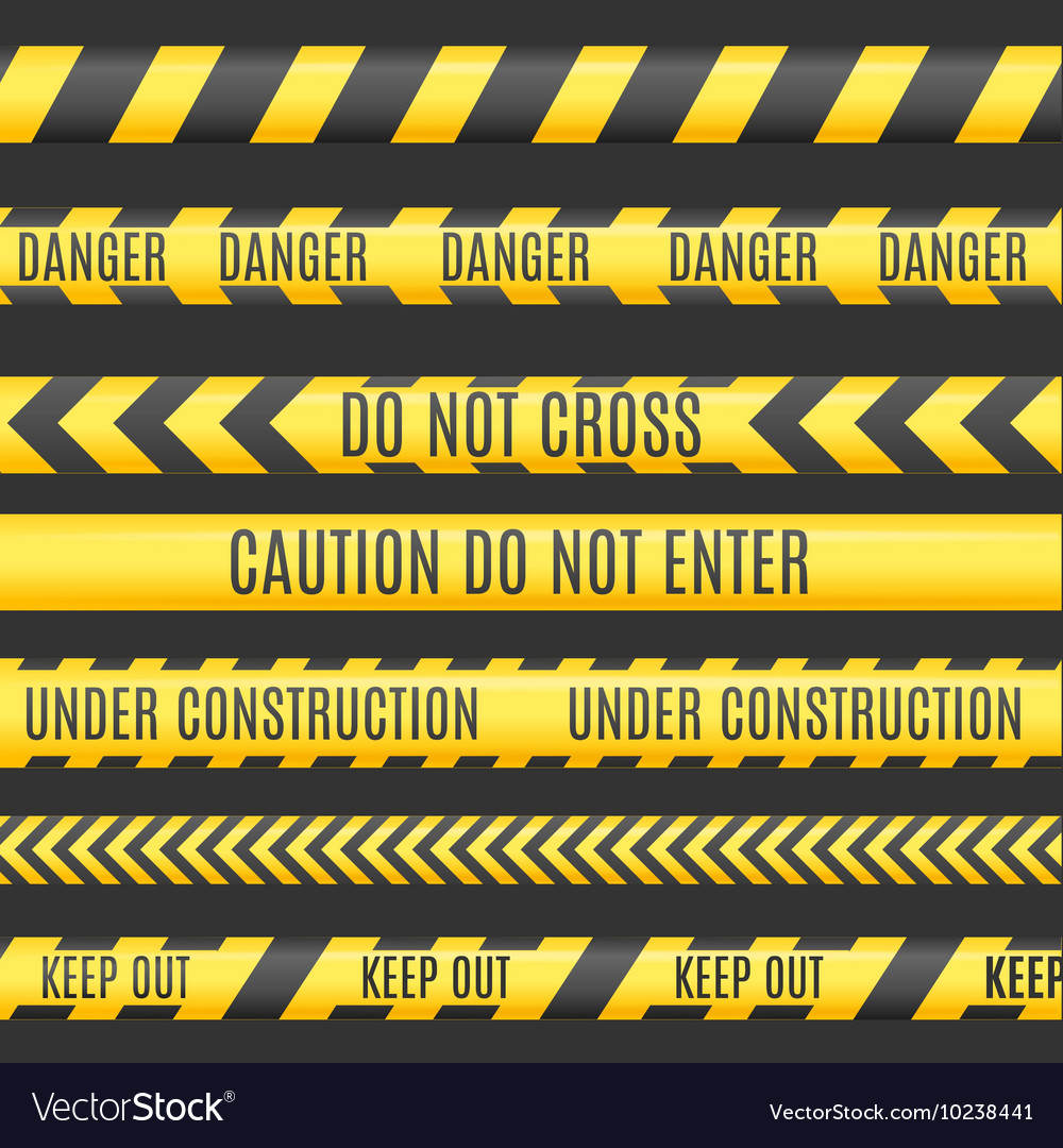 Under Construction Line Set vector image