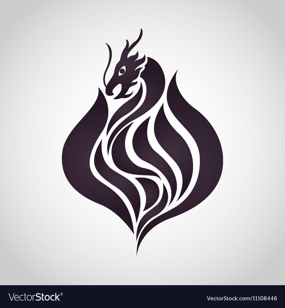 dragon logo royalty free vector image vectorstock