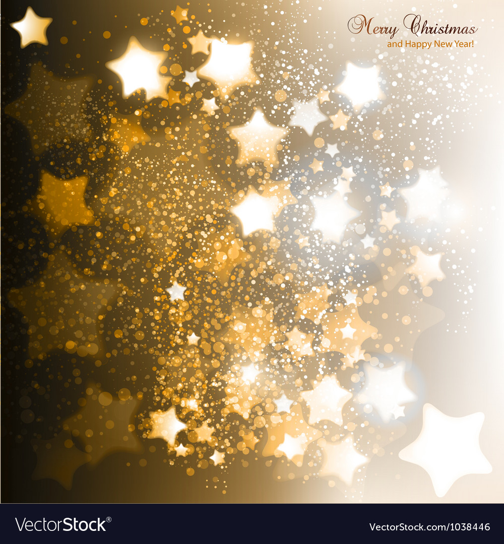 Elegant Christmas background with golden stars