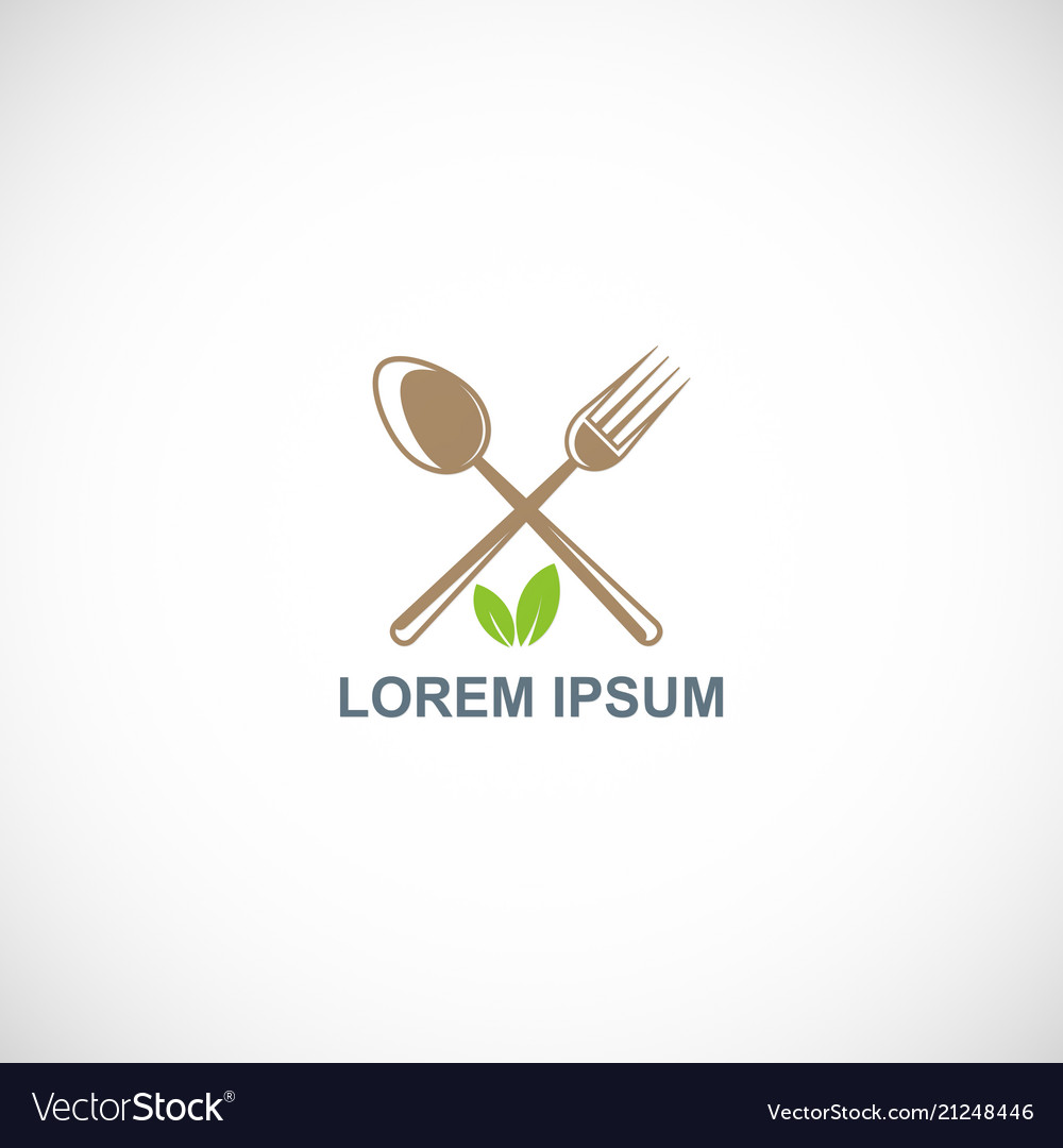Food spoon and fork logo