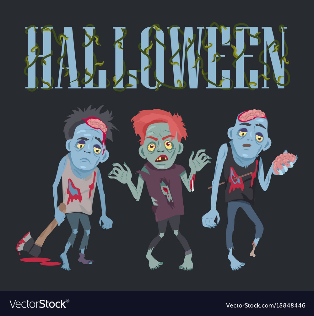 Halloween with zombies on