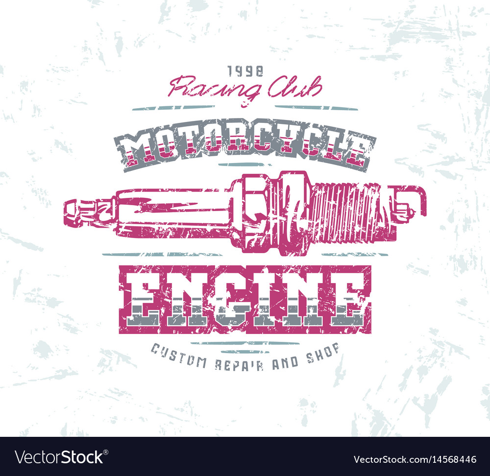 Motorcycle engine repair emblem