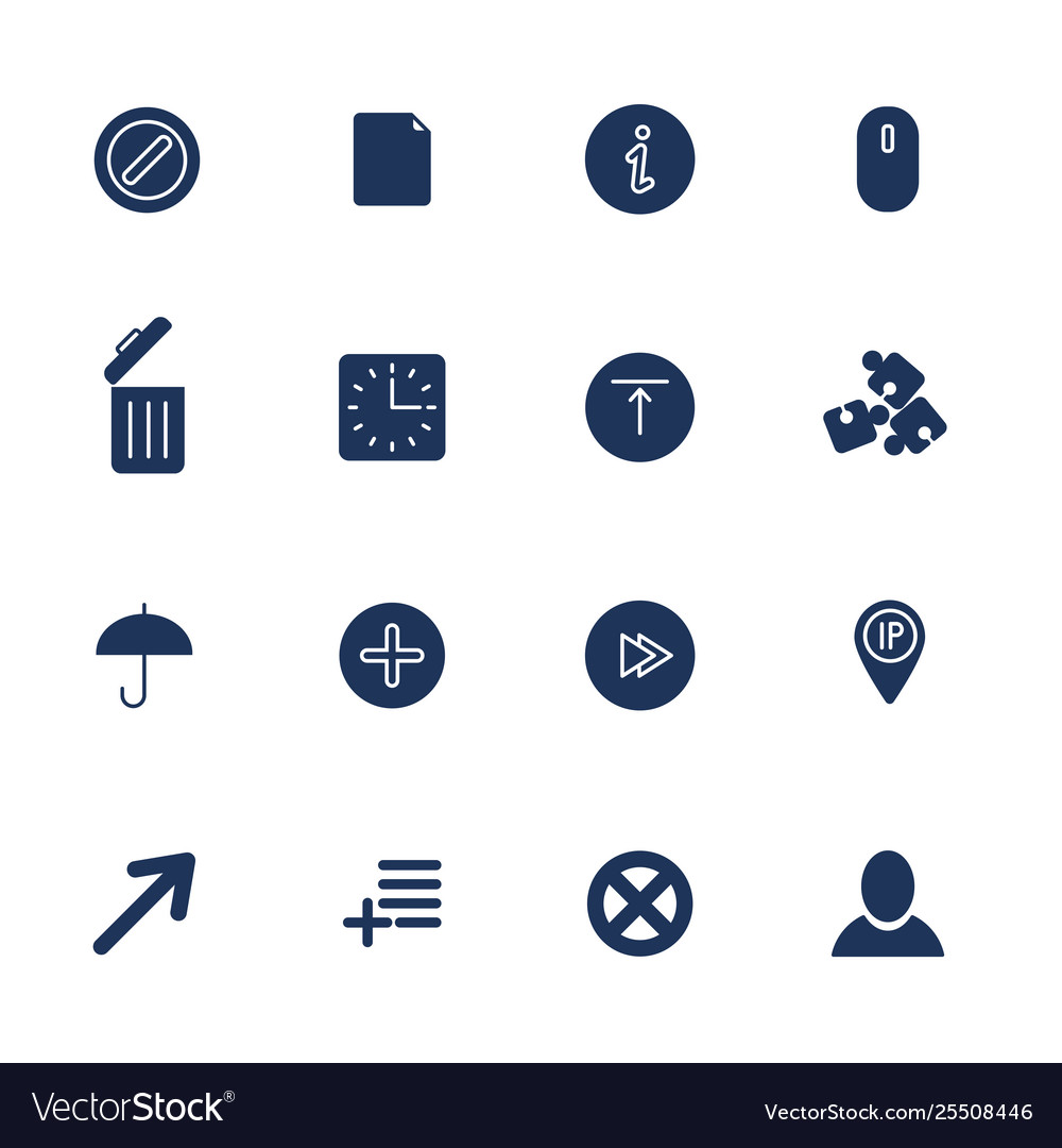 Set 16 quality icons for web and mobile