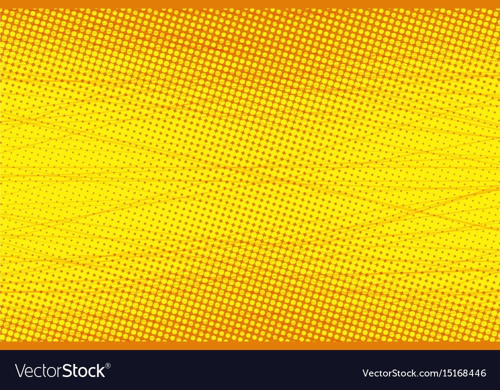 Yellow scratch touches pop art background vector image