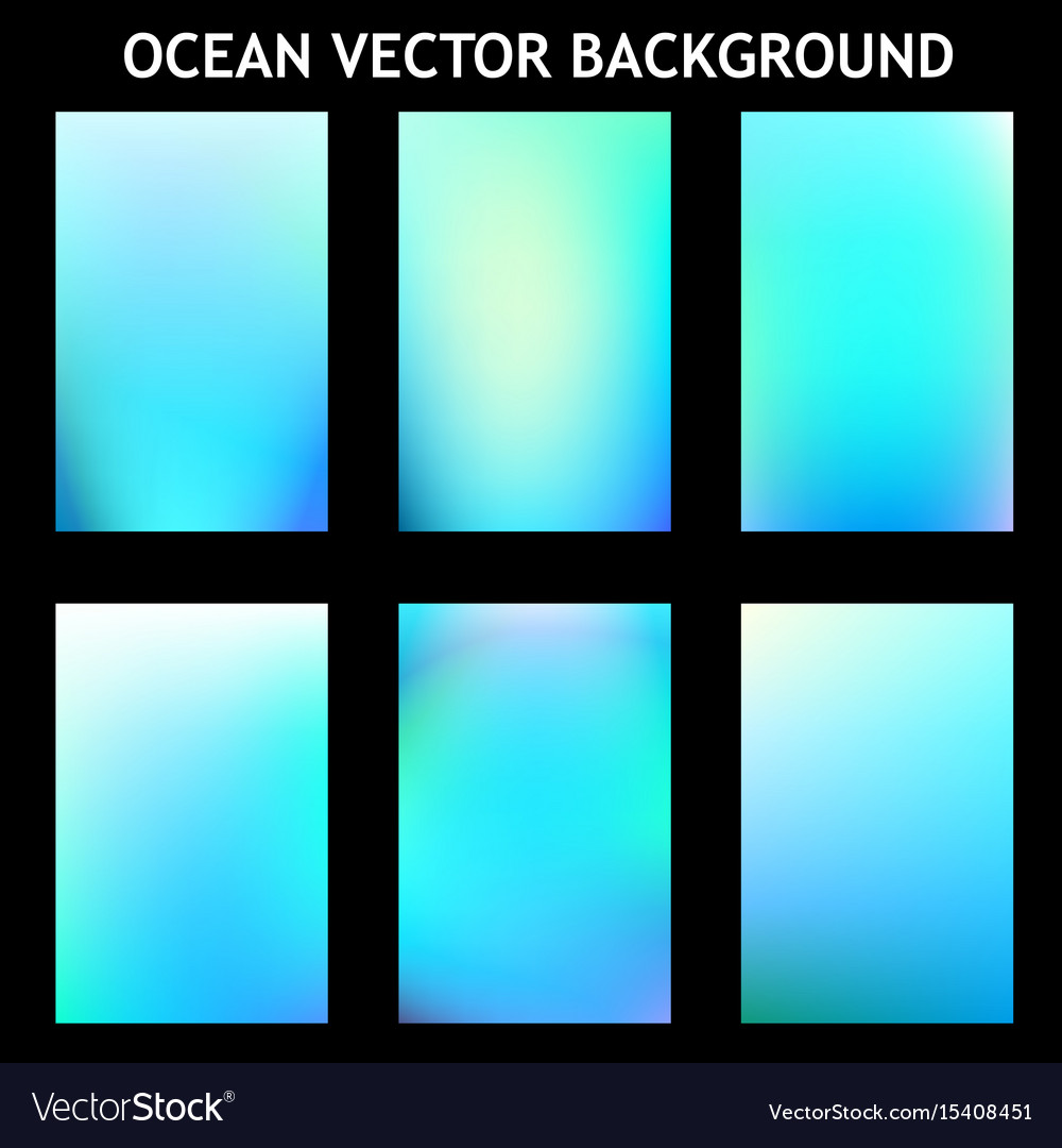 Abstract Blue Ocean Template Vector Image On Vectorstock