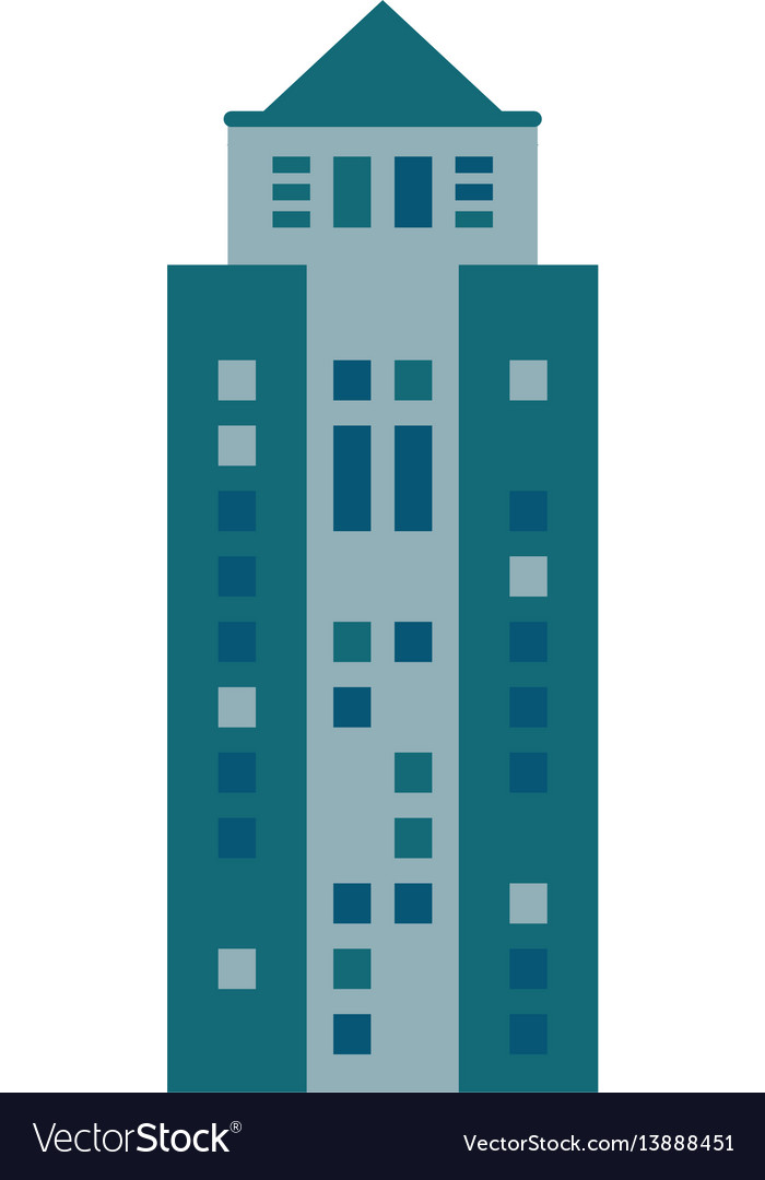 Building urban skyscraper icon
