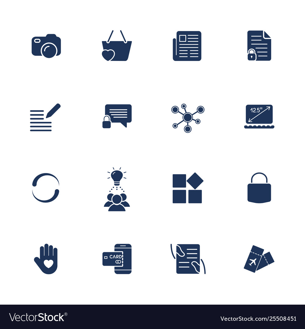 Different simple universal icons for sites apps