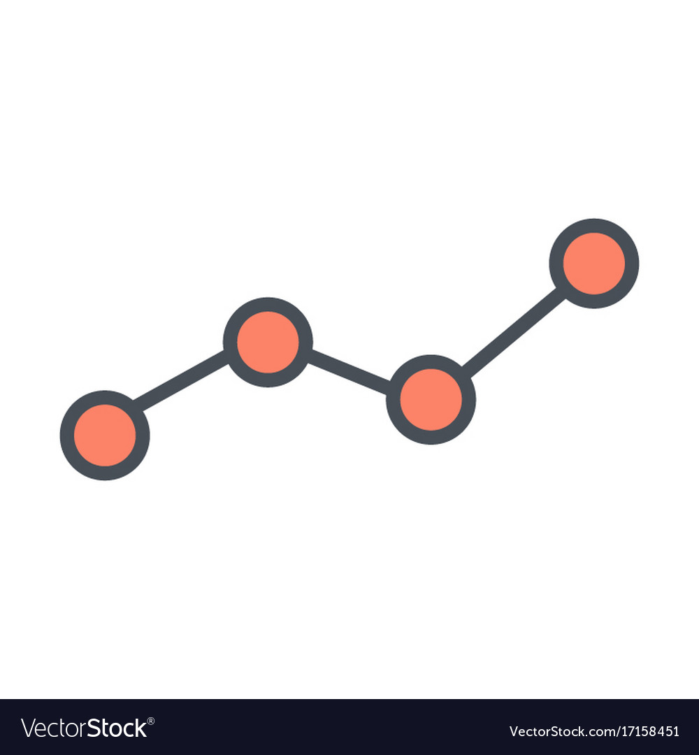 Growing business graph line icon chart symbol vector image