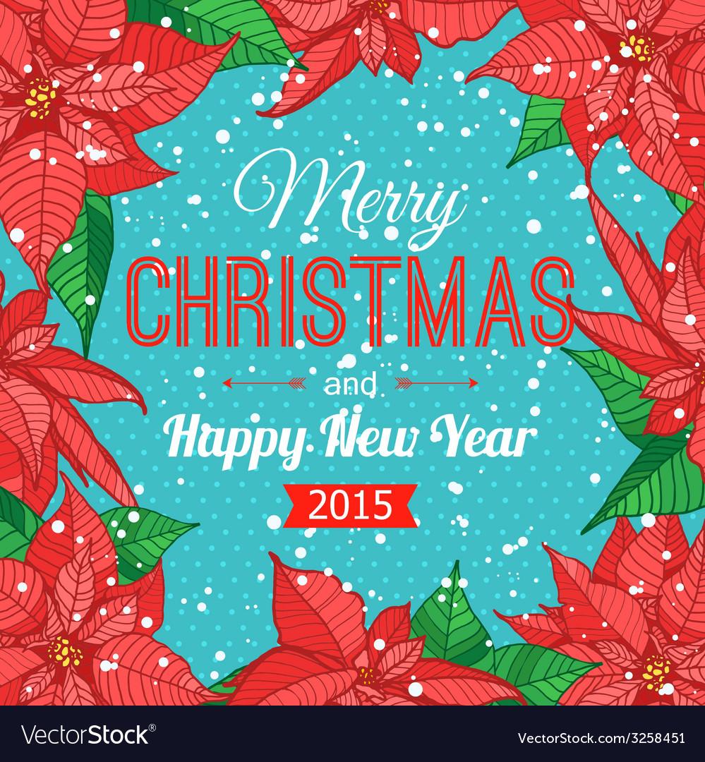 Happy New Year 2015 celebration typographical