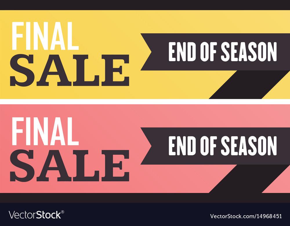 Social media final sale banner
