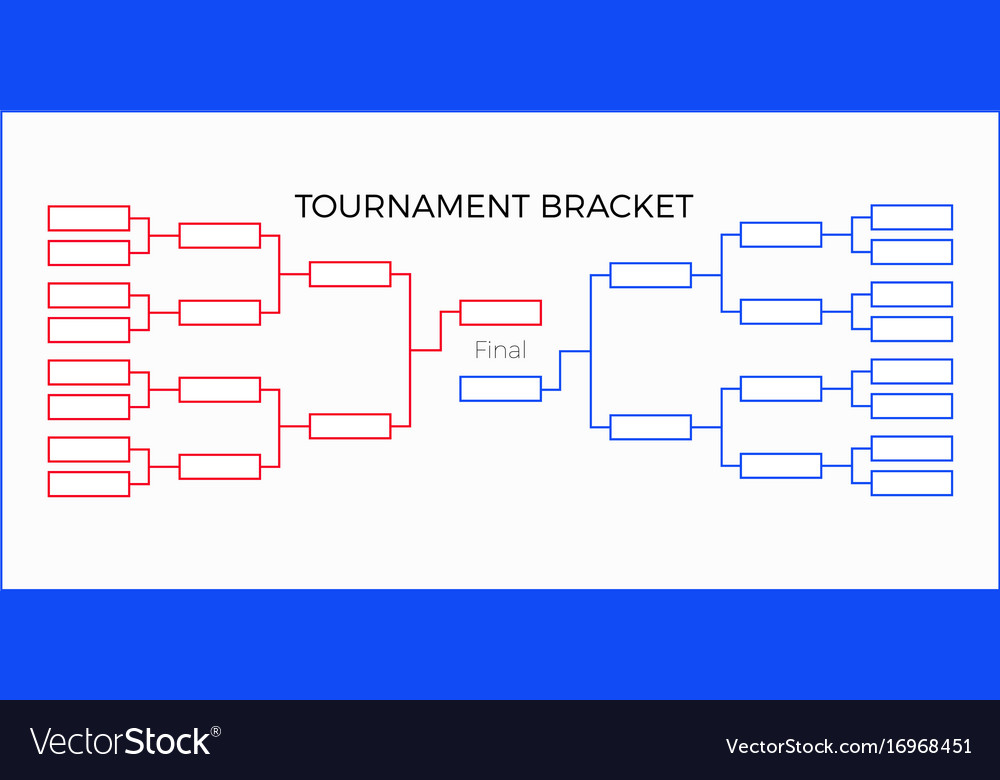 Tournament bracket vector image