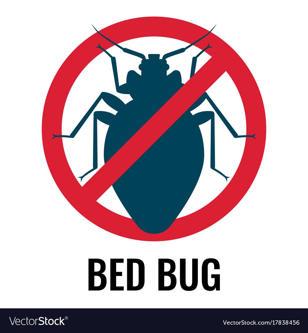 Anti bed bug emblem white on vector image