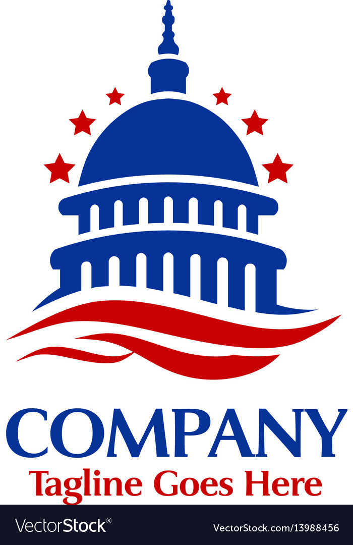 Building bank finance insurance logo tem vector image