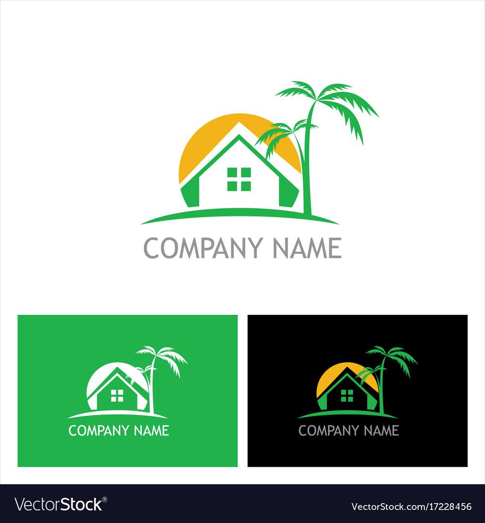 Home palm tree logo