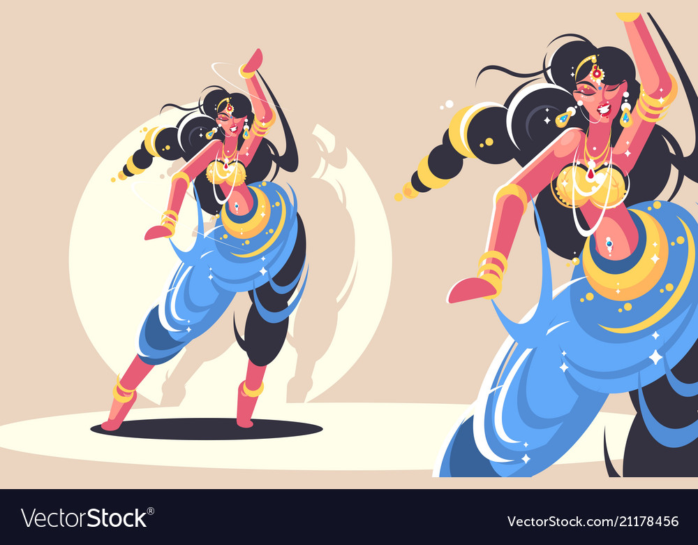 Indian girls dance
