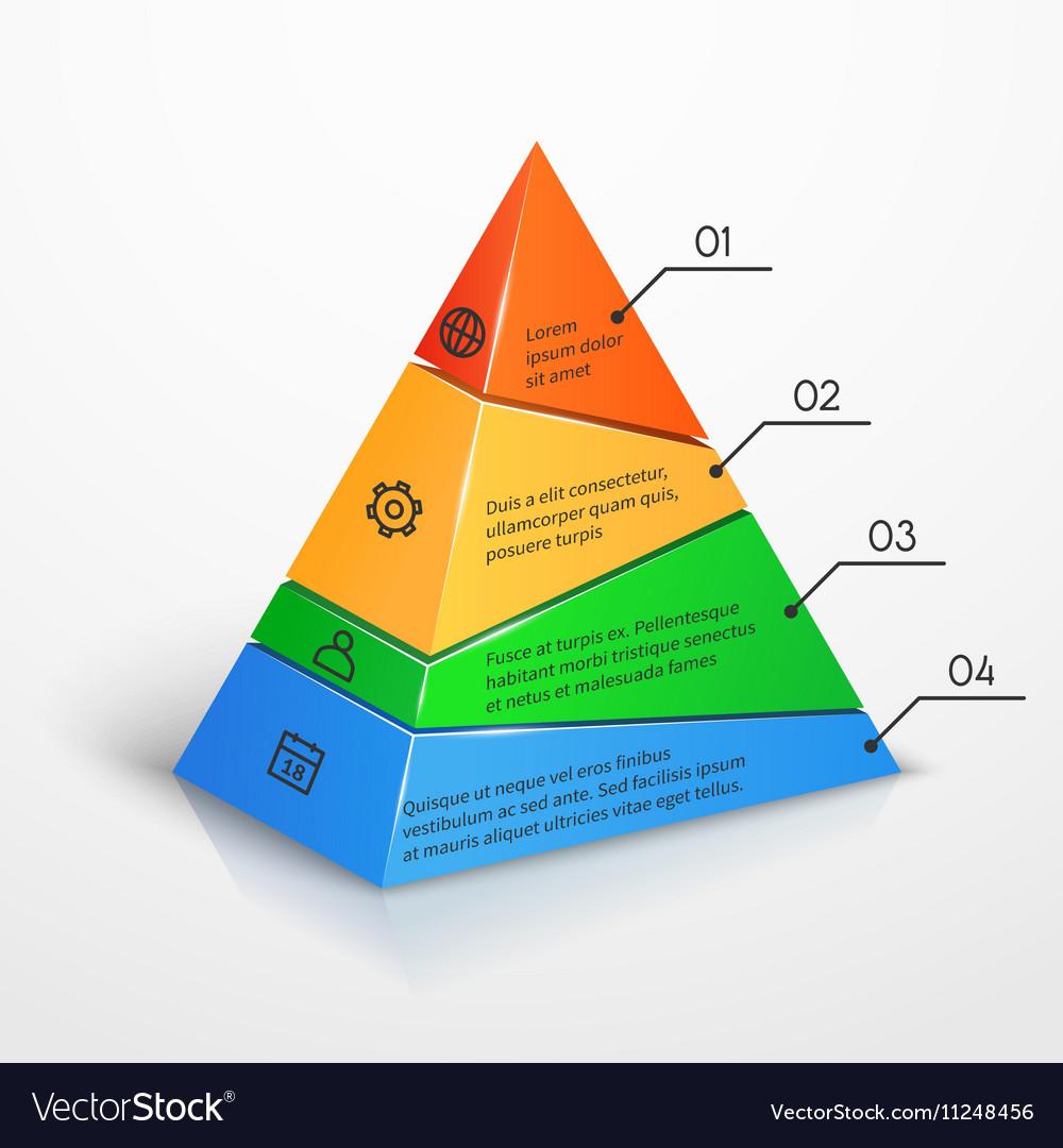 Layers hierarchy pyramid chart presentation