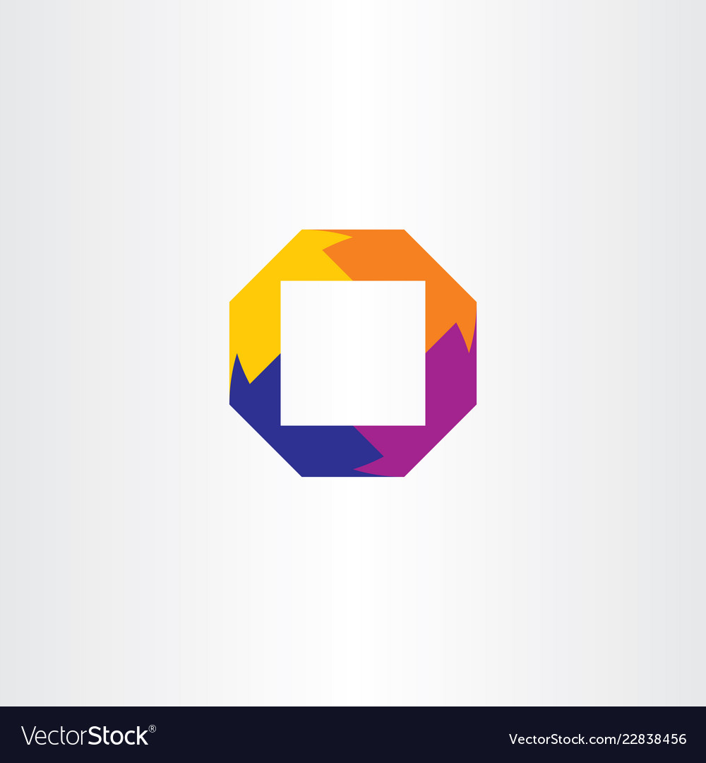 Logo abstract square business element symbol icon