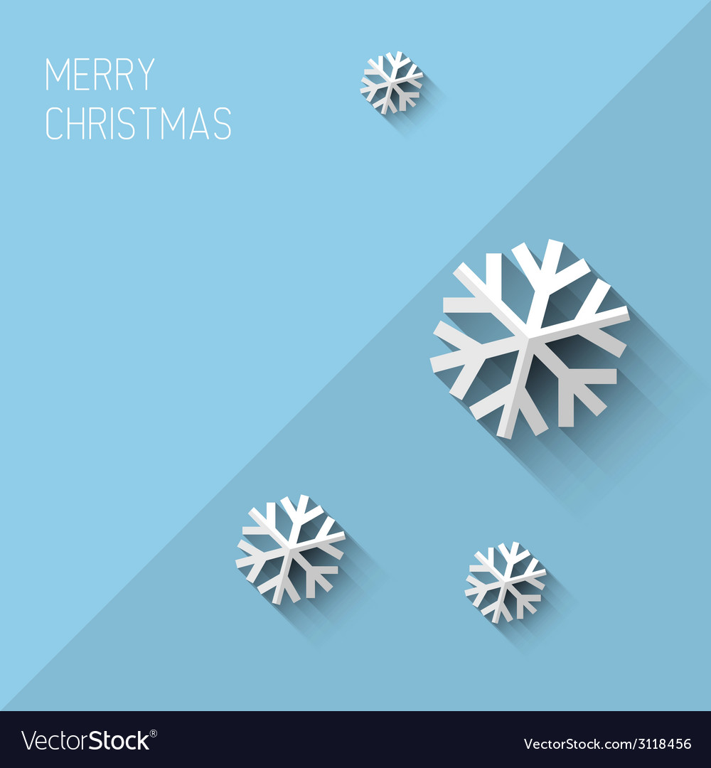 Modern christmas card with flat design royalty free vector modern christmas card with flat design vector image m4hsunfo