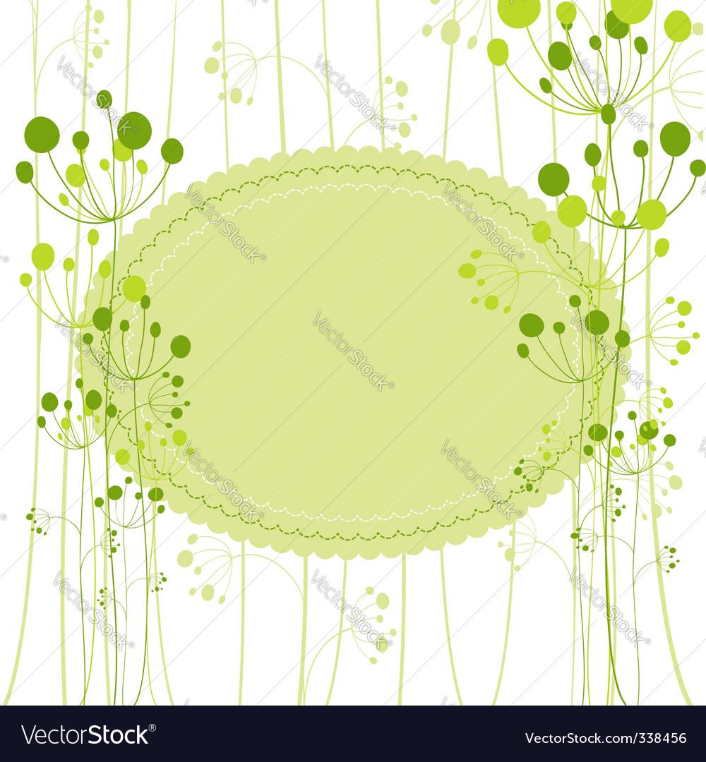 Springtime green dandelion vector image