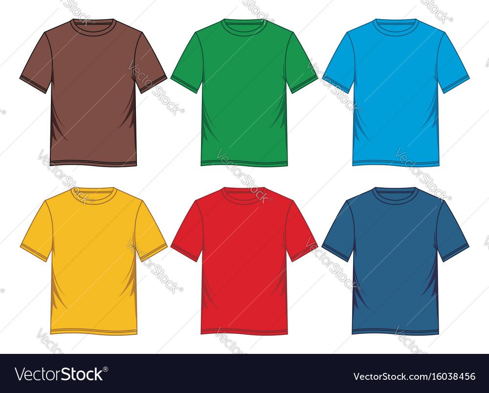Tempalate t-shirt colorful