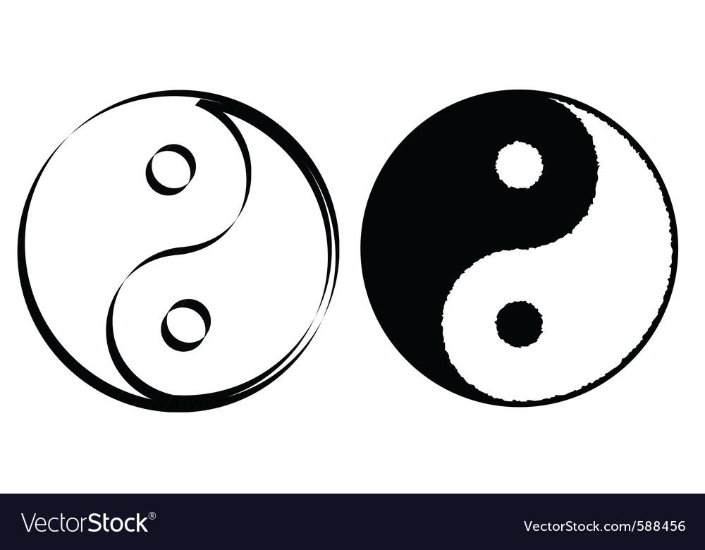 Yin Yang Symbol Royalty Free Vector Image Vectorstock