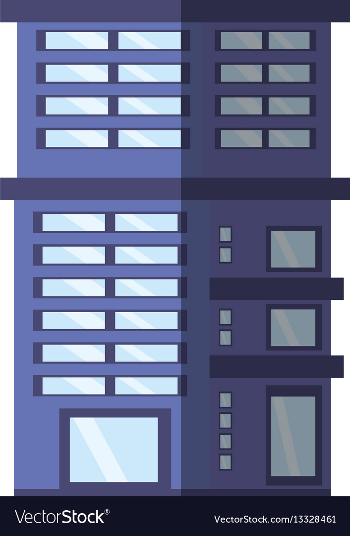 Building residential town shadow vector image