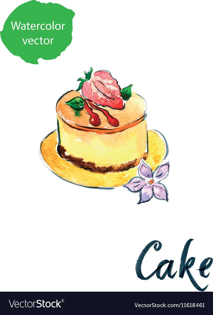 Cake flower vector image