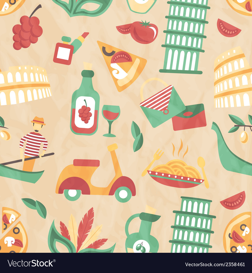 Italy seamless pattern
