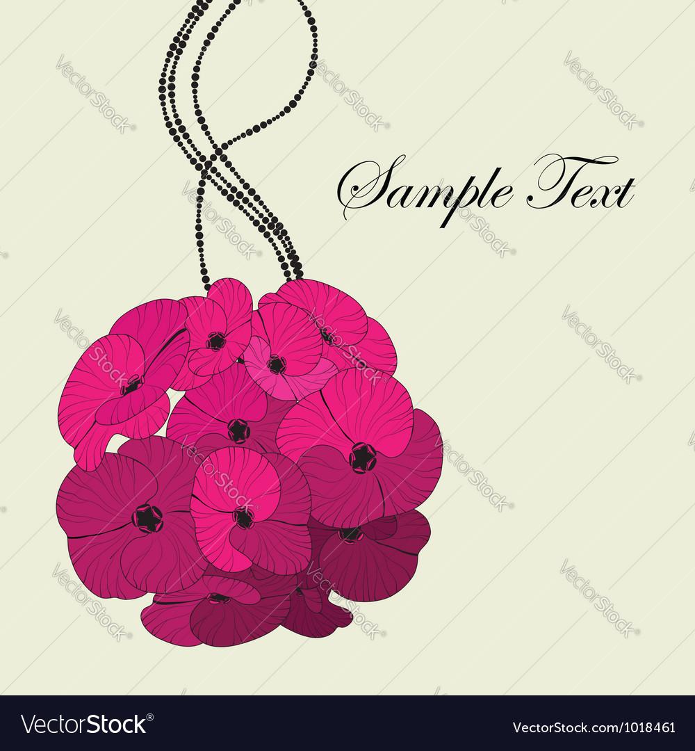 Pink flower bouquet card