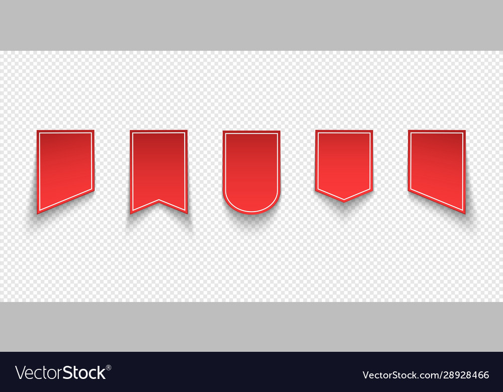 Collection red sale tags labels