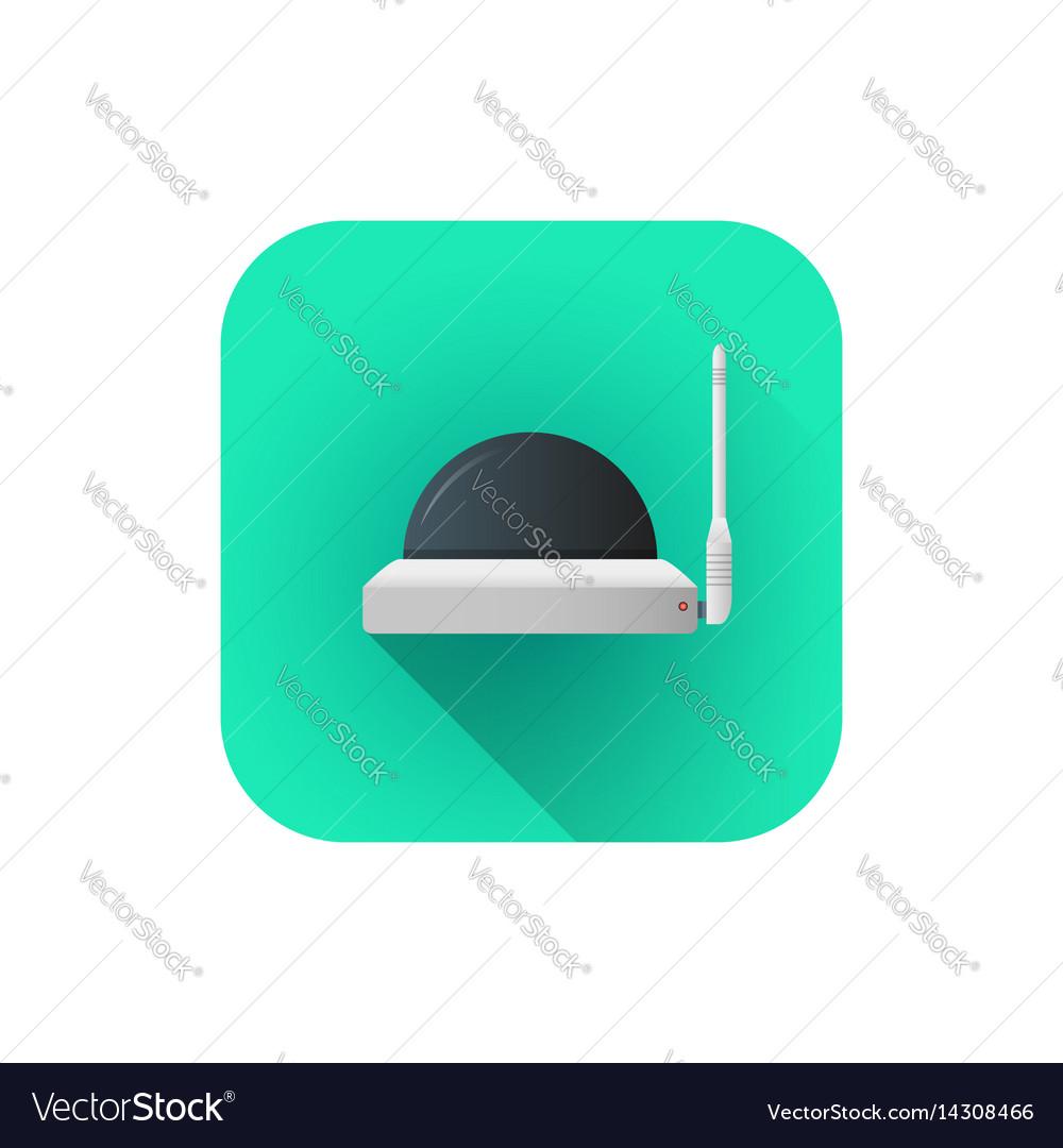 Flat wifi surveillance camera